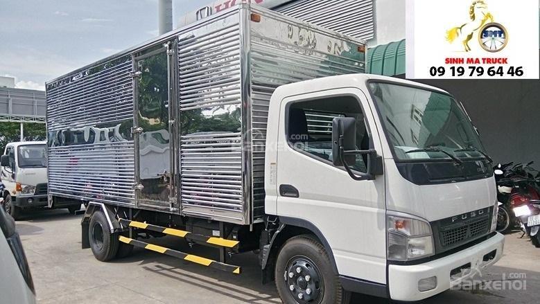 Bán Mitsubishi Canter 5 tấn đời 2017, màu trắng thùng bạt, thùng kín giao ngay (5)