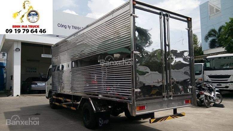Bán Mitsubishi Canter 5 tấn đời 2017, màu trắng thùng bạt, thùng kín giao ngay (8)