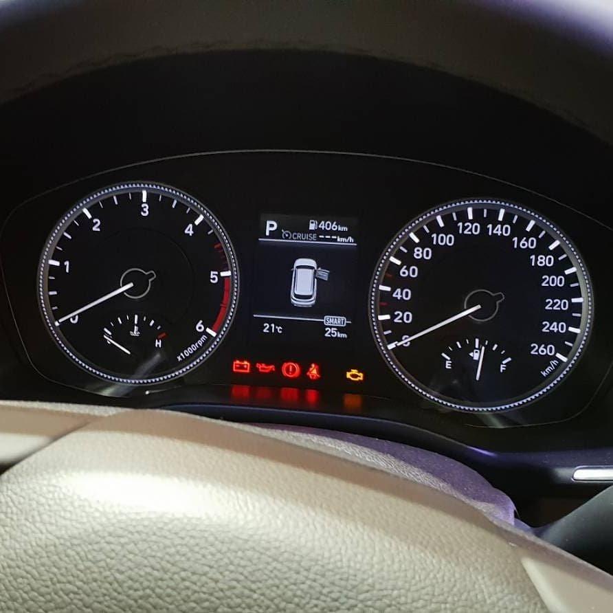 đồng hồ trên Hyundai Santa Fe 2019