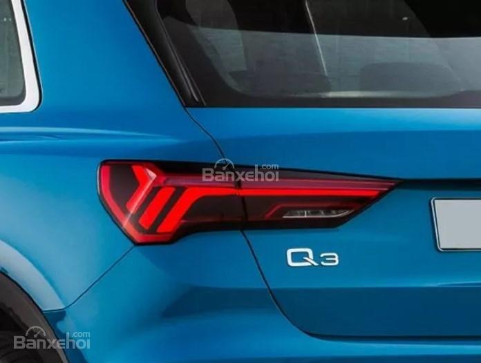 Đánh giá xe Audi Q3 2019: Đèn hậu.