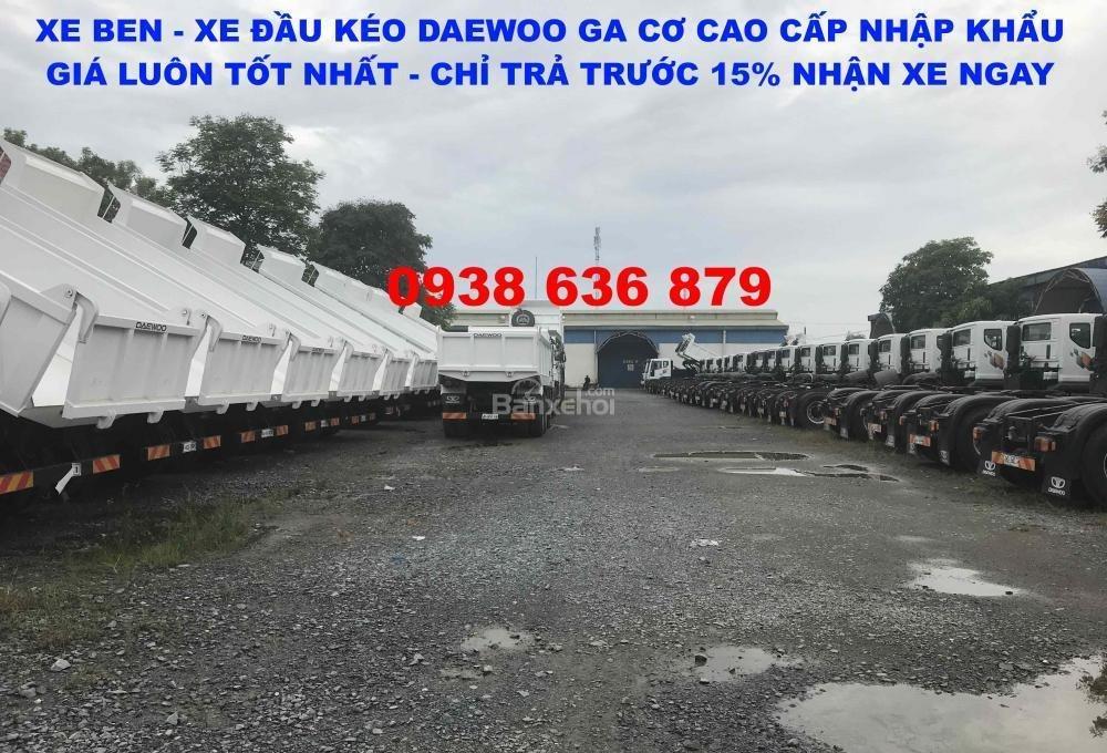 Bán xe Ben 15 tấn Daewoo ga cơ nhập khẩu - giá tốt nhất - xe giao ngay (7)