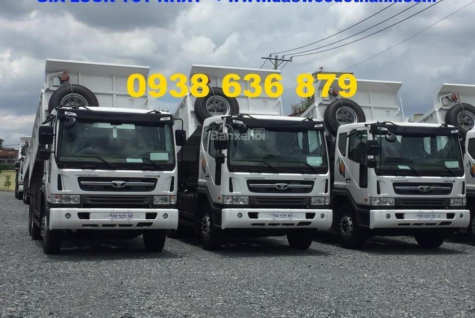 Bán xe Ben 15 tấn Daewoo ga cơ nhập khẩu - giá tốt nhất - xe giao ngay (1)