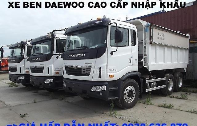 Bán xe Ben 15 tấn Daewoo ga cơ nhập khẩu - giá tốt nhất - xe giao ngay (4)