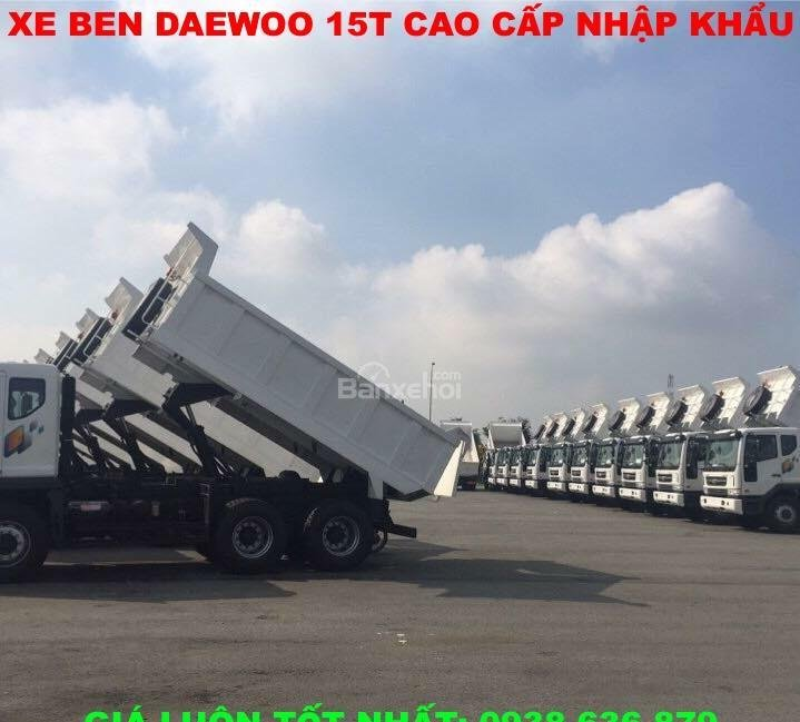 Bán xe Ben 15 tấn Daewoo ga cơ nhập khẩu - giá tốt nhất - xe giao ngay (3)