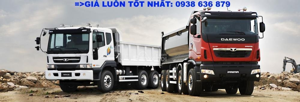 Bán xe Ben 15 tấn Daewoo ga cơ nhập khẩu - giá tốt nhất - xe giao ngay (8)