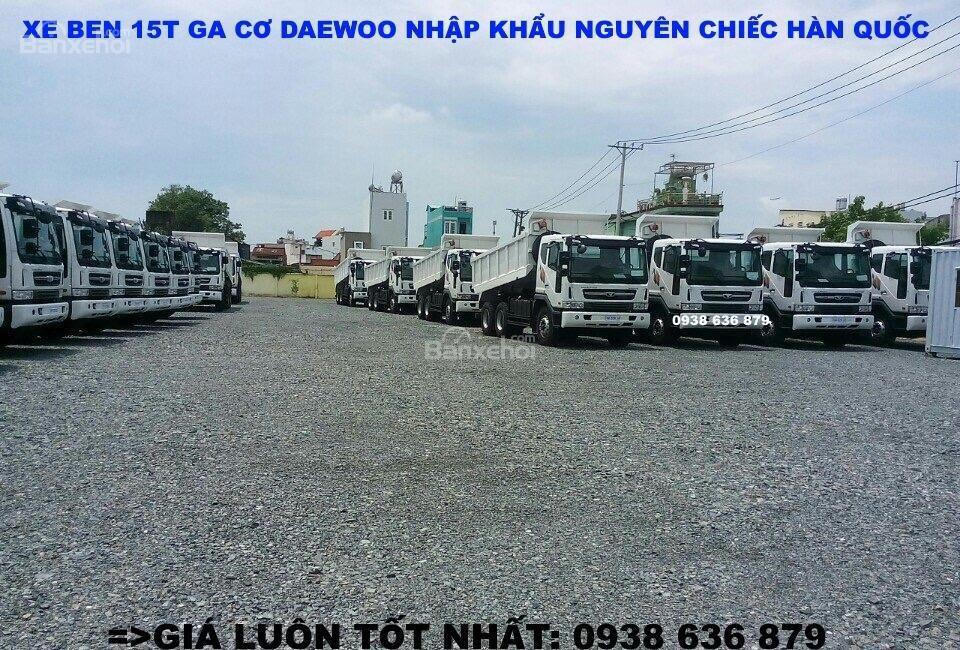 Bán xe Ben 15 tấn Daewoo ga cơ nhập khẩu - giá tốt nhất - xe giao ngay (6)