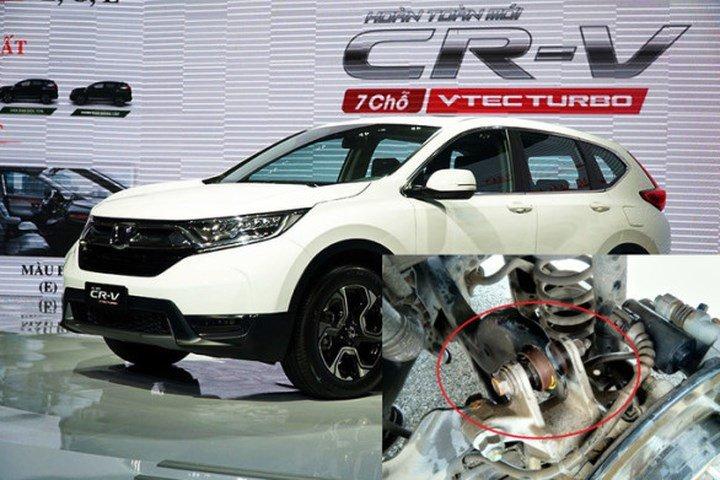 Honda CR-V 2018 bị gỉ sét