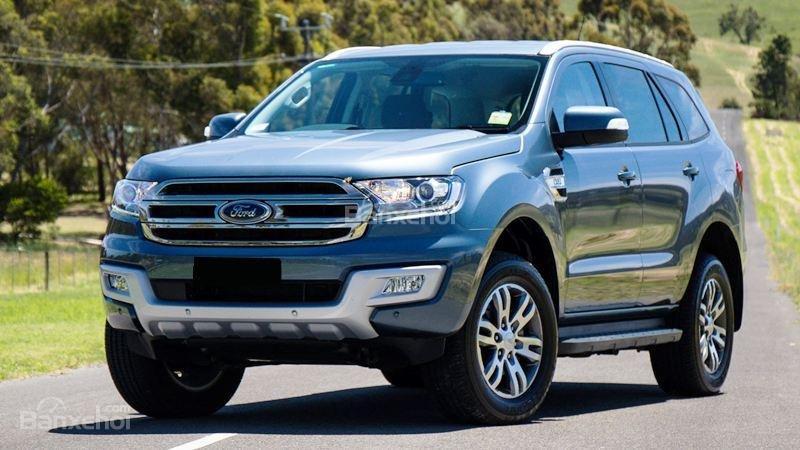Cần bán xe Ford Everest 2.0L Bi Turbo đời 2018, màu xám (ghi), nhập khẩu-0