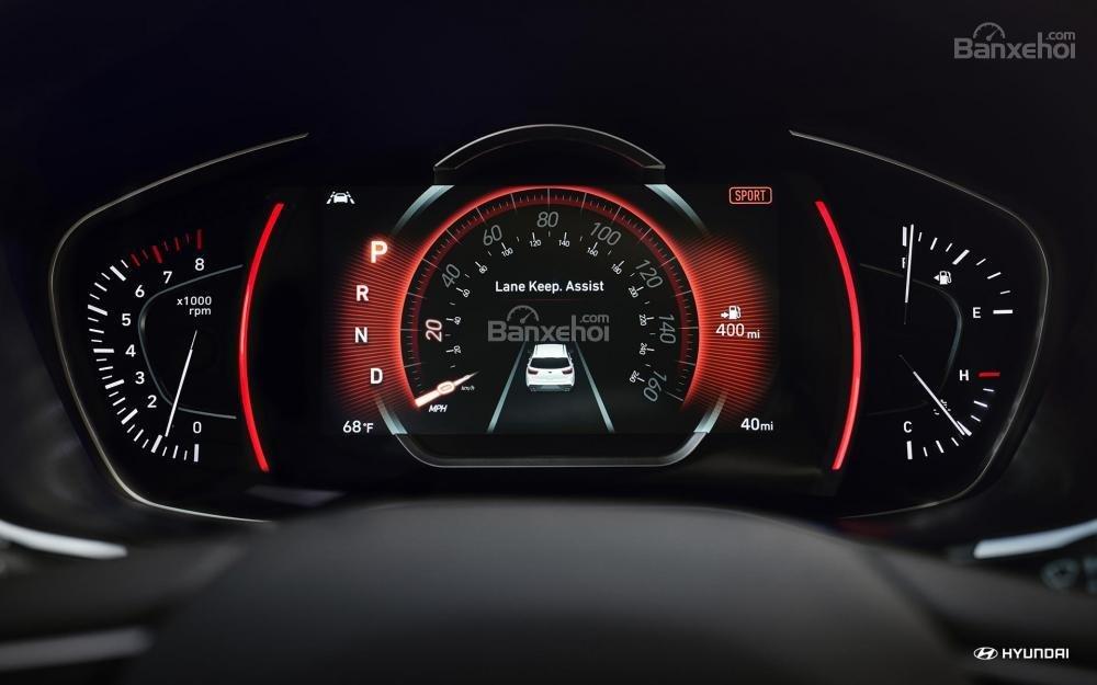 Cụm đồng hồ lái trên Hyundai Santa Fe 2019 sắp bán tại Việt Nam ..