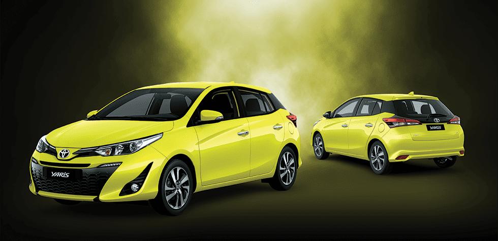 Đánh giá xe Toyota Yaris G 2019: Toyota Yaris 2019 màu vàng chanh bắt mắt..