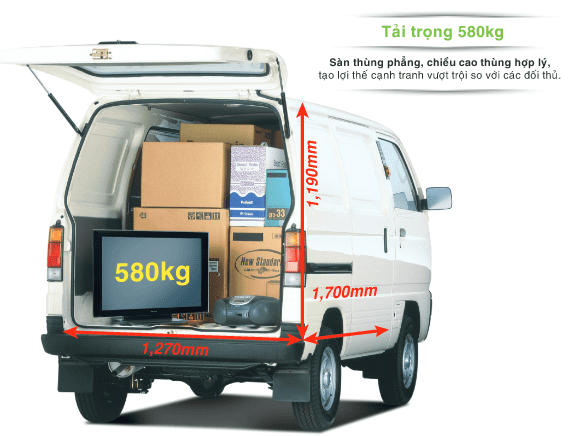 Thiết kế ngoại thất của Suzuki Blind Van 2018 a2