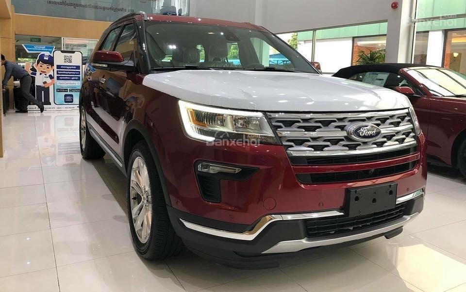 Cần bán xe Ford Explorer 2.3L Limited đời 2019, màu đỏ, nhập khẩu nguyên chiếc-0