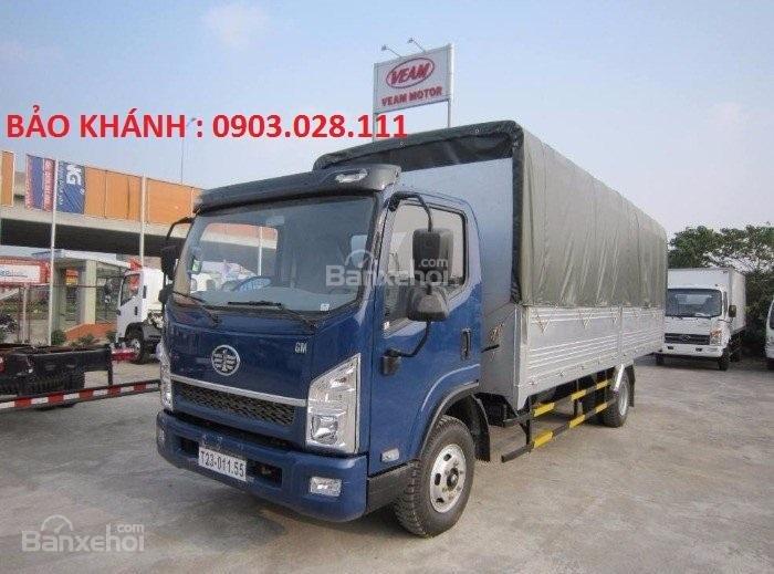 Bán xe tải Faw 7.25Tấn động cơ Yuchai thùng bạt dài 6270m giá rẻ-0