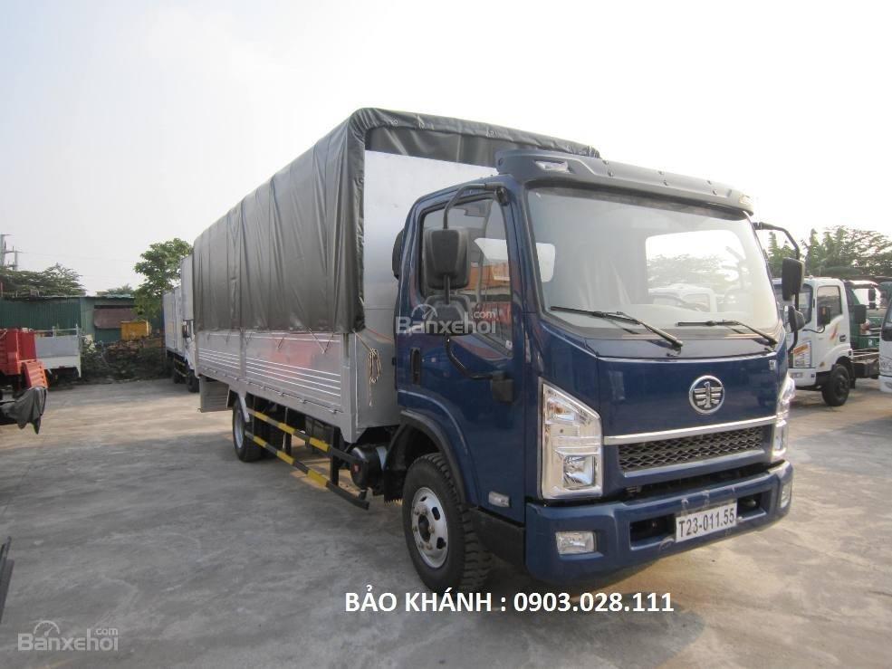 Bán xe tải Faw 7.25Tấn động cơ Yuchai thùng bạt dài 6270m giá rẻ-2