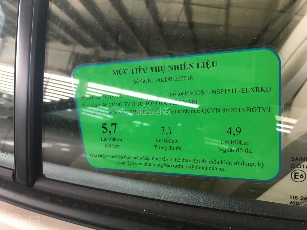 Toyota Bình Tân - Vios E số tựđộng - tặng 1 năm bảo hiểm thân vỏ -Trả trước từ 150tr-5