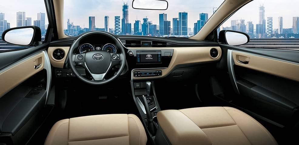 Nội thất Toyota Altis 2018 mới nhất hiện nay...