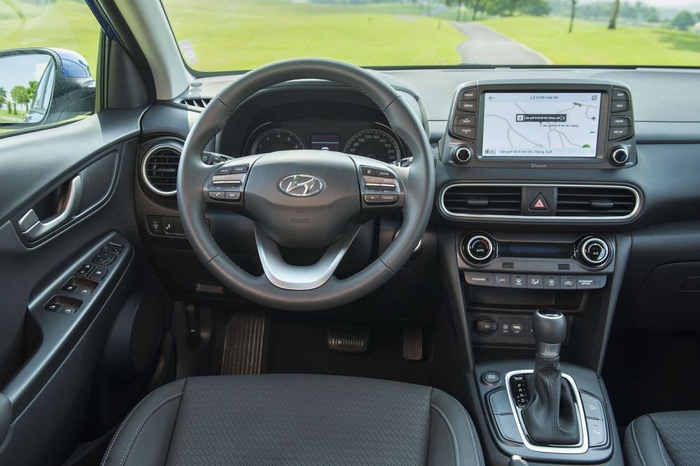 Vô-lăng của Hyundai Kona 2019 1.6 Turbo bọc da