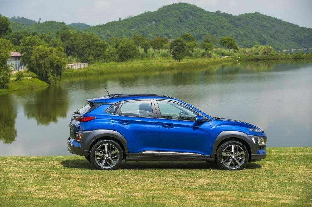 Đánh giá xe Hyundai Kona 2019 1.6 Turbo về thiết kế thân xe a2