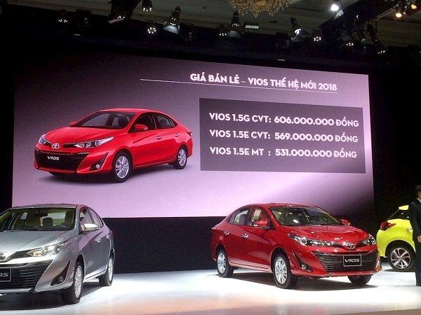 600 triệu, mua xe ô tô mới nào vừa ra mắt Việt Nam? - Toyota Vios..