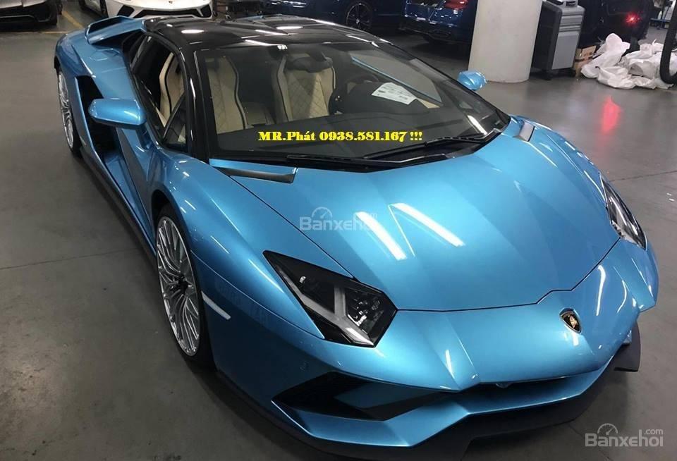 Cần bán xe Lamborghini Aventador S Roadster sản xuất năm 2018, màu xanh lam, nhập khẩu nguyên chiếc-0