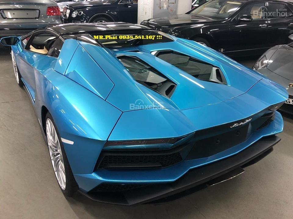 Cần bán xe Lamborghini Aventador S Roadster sản xuất năm 2018, màu xanh lam, nhập khẩu nguyên chiếc-1