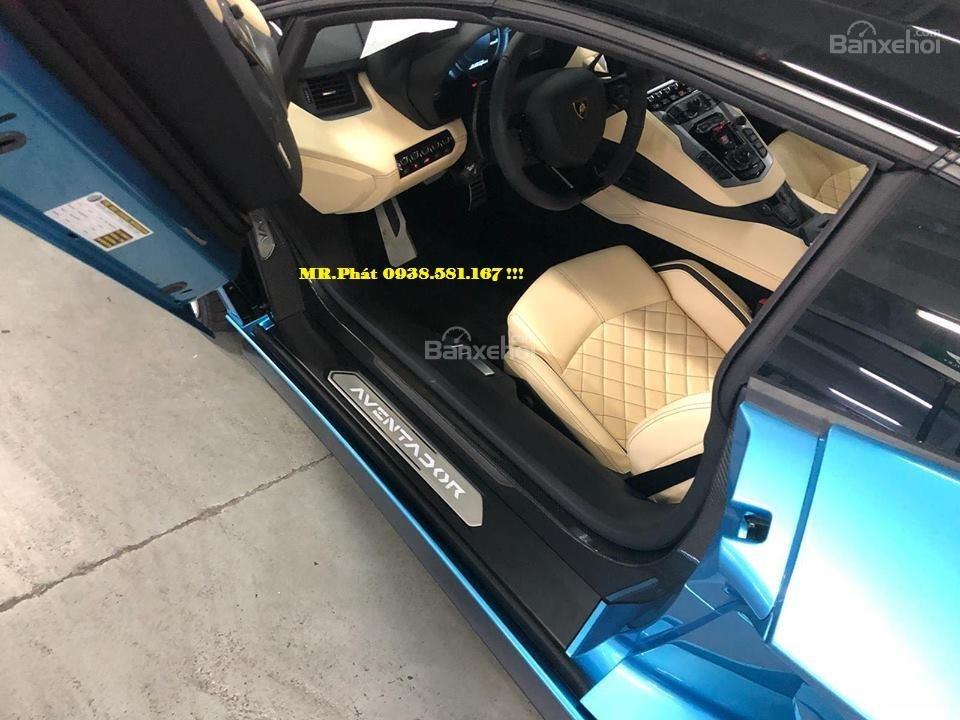 Cần bán xe Lamborghini Aventador S Roadster sản xuất năm 2018, màu xanh lam, nhập khẩu nguyên chiếc-2