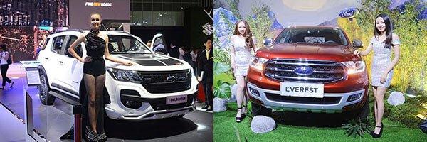 So sánh xe Ford Everest 2019 và Chevrolet Trailblazer 2018 5