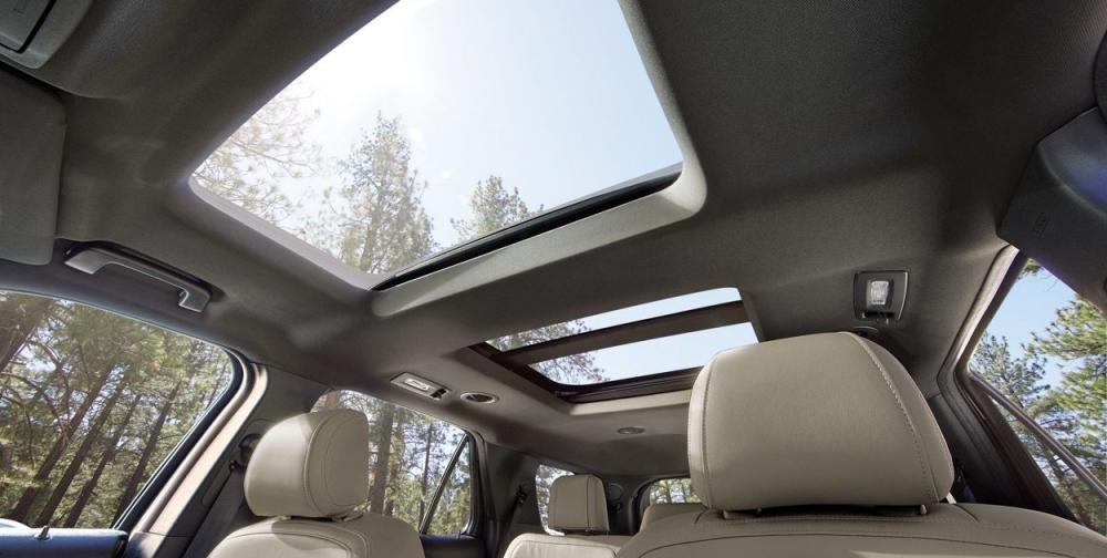 Đánh giá xe Ford Explorer 2019: Cửa sổ trời.