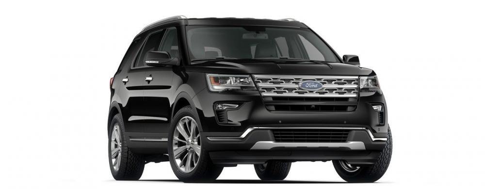 Đánh giá xe Ford Explorer 2019: Màu ngoại thất đỏ.