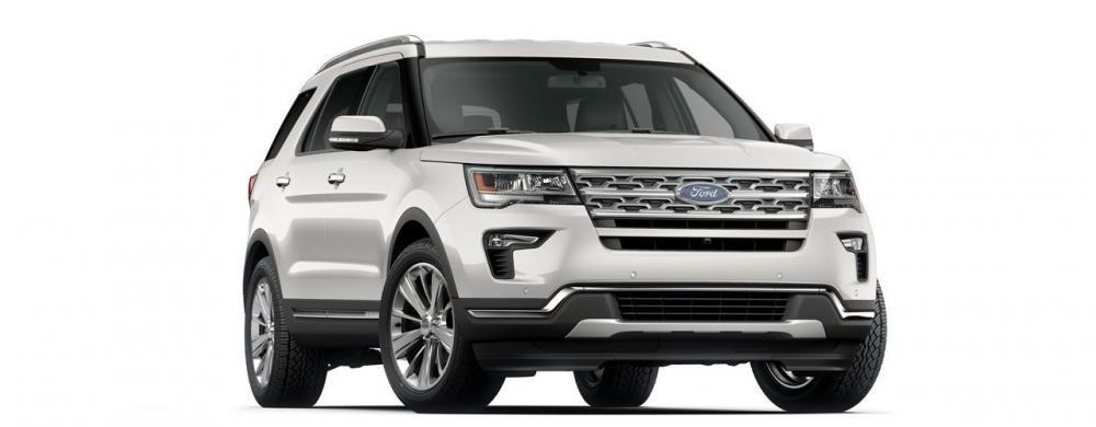 Đánh giá xe Ford Explorer 2019: Màu ngoại thất trắng.