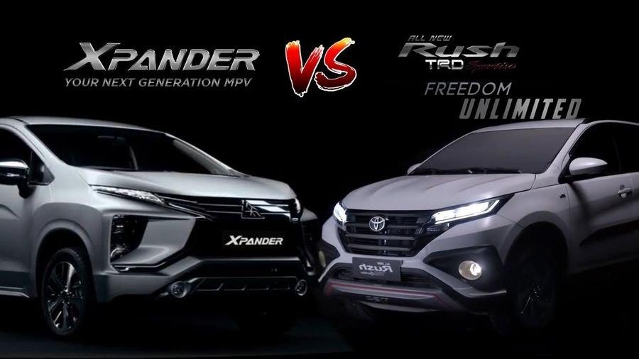 Tân binh phân khúc MPV giữa Mitsubishi Xpander 2018 và Toyota Rush 2018