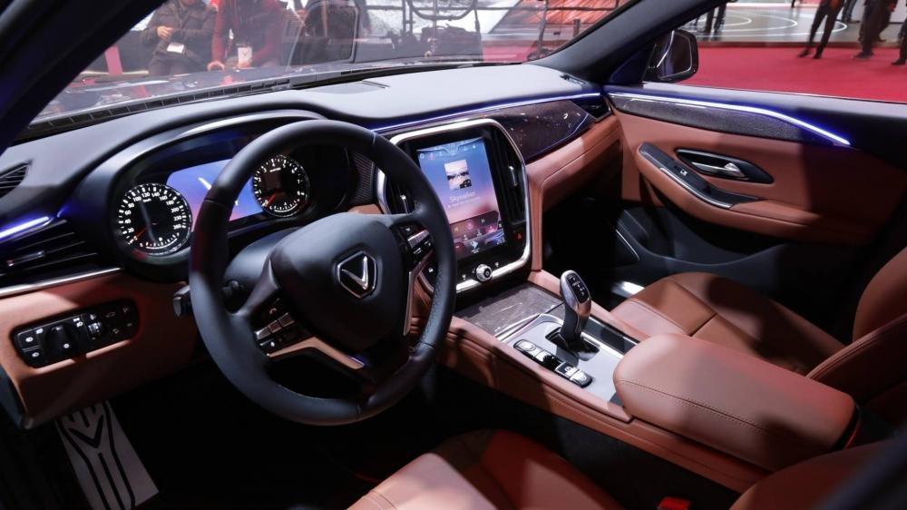 Khoang nội thất cao cấp, hiện đại và tiện nghi trên VinFast LUX A2.0..