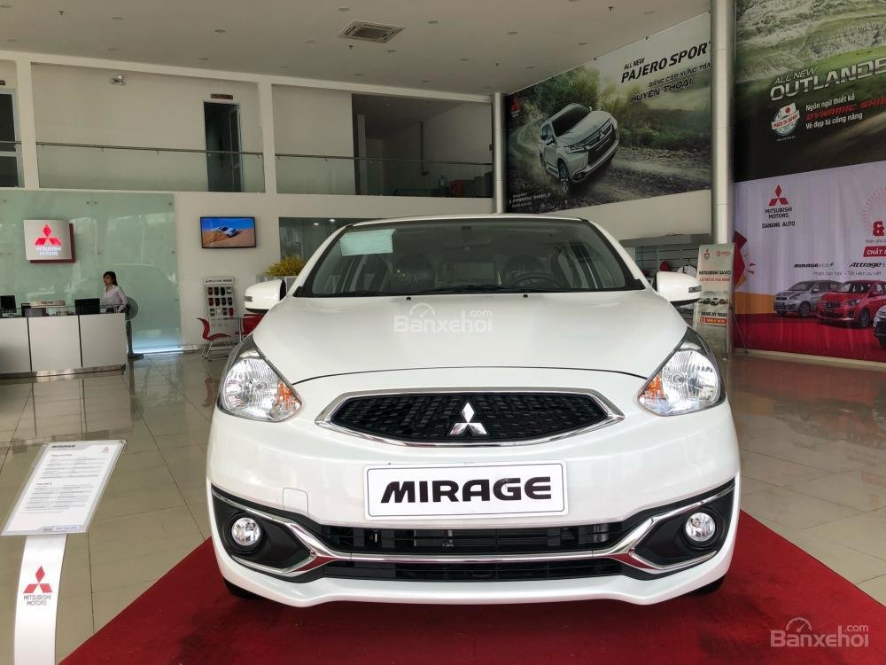 [Siêu giảm] Mitsubishi Mirage giá cực rẻ, màu trắng, nhập khẩu Thái, lợi xăng 5L/100km, cho góp 80% (3)