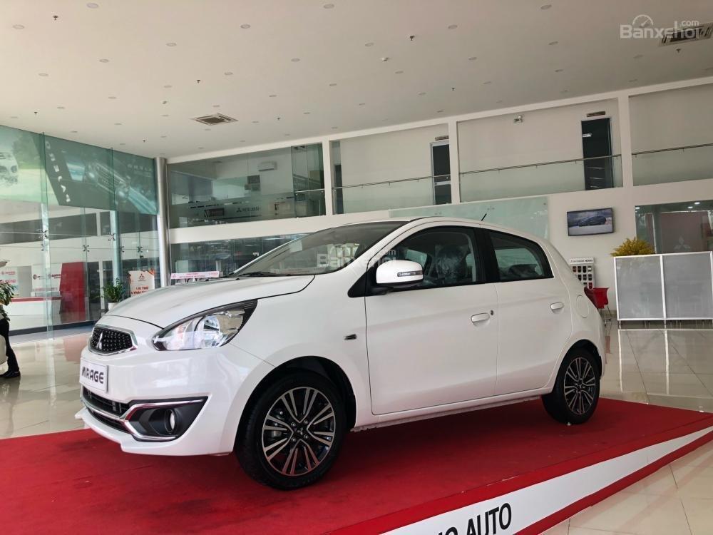 [Siêu giảm] Mitsubishi Mirage giá cực rẻ, màu trắng, nhập khẩu Thái, lợi xăng 5L/100km, cho góp 80%-0