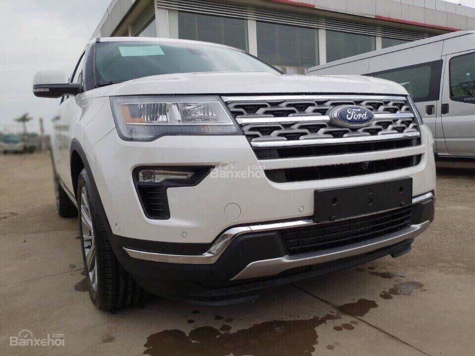 Bán ô tô Ford Explorer 2.3L Ecoboost Limited form 2018, màu trắng, xe nhập Mỹ, hỗ trợ thủ tục trả góp 80%-0