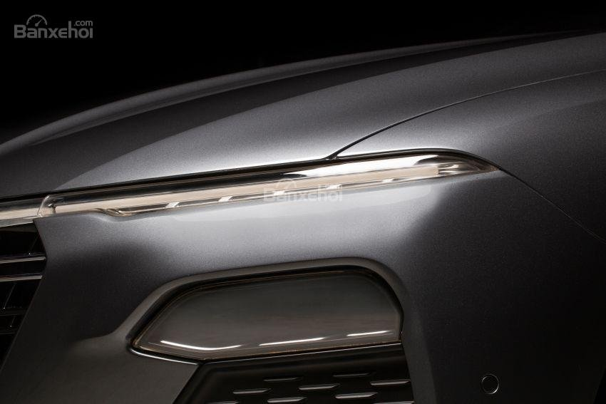 Đánh giá xe VinFast LUX A2.0: Đèn ban ngày LED.