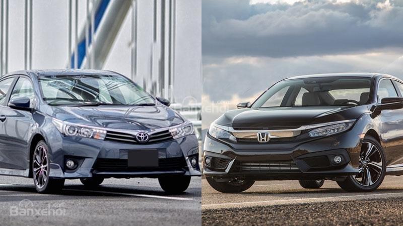 Honda Civic 1.5L và Toyota Corolla Altis Sport 20