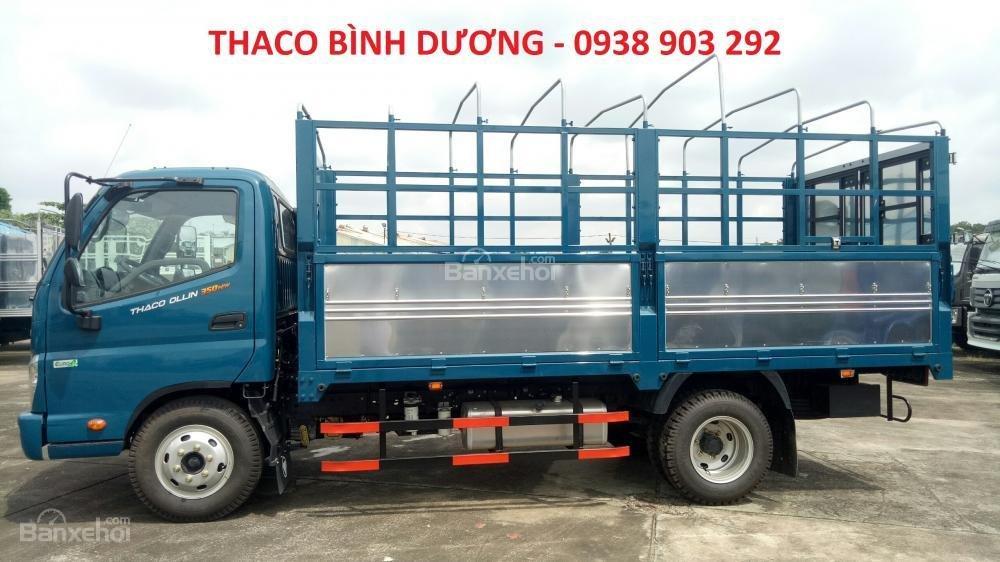 Bán xe Thaco Ollin 350 E4 đời 2018, giá 354tr, Ollin 350 thùng mui bạt 2T1 - trả góp 70% tại Bình Dương, 0938903292 (3)