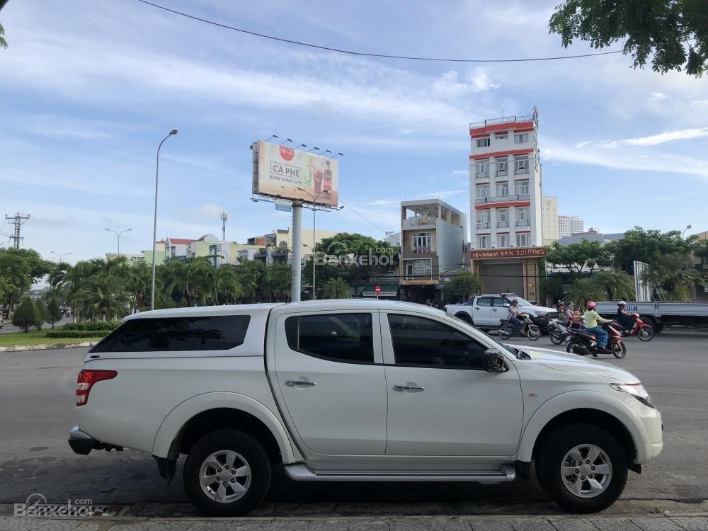 [Siêu giảm] Mitsubishi Triton, màu trắng, xe nhập Thái, lợi dầu 7L/100km, trả góp 80%. LH: 0905.91.01.99-2