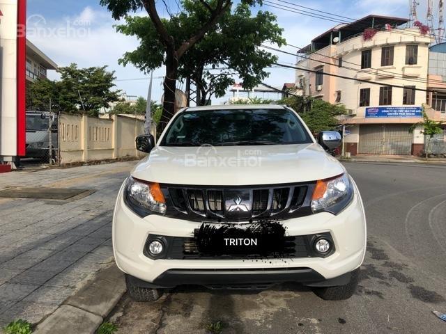[Siêu giảm] Mitsubishi Triton, màu trắng, xe nhập Thái, lợi dầu 7L/100km, trả góp 80%. LH: 0905.91.01.99-0