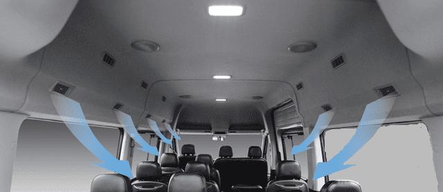 Đánh giá xe Hyundai Solati 2019 về hệ thống tiện nghi a3