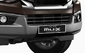 Đánh giá xe Isuzu mu-X 2019: Cản va trước.