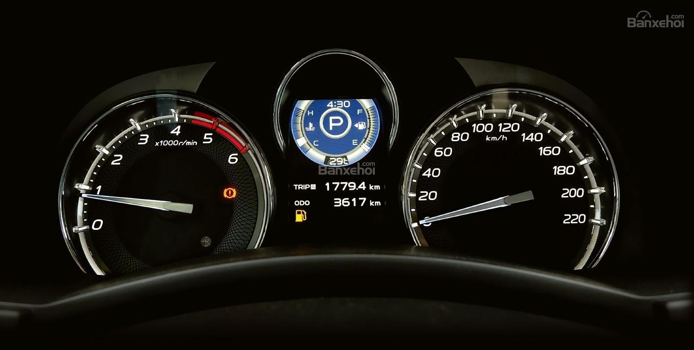 Đánh giá xe Isuzu mu-X 2019: Cụm đồng hồ.