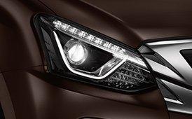 Đánh giá xe Isuzu mu-X 2019: Đèn pha.