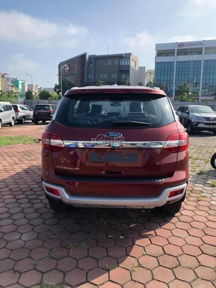 Bán ô tô Ford Everest 2.0L 4x2 Titanium AT đời 2019,màu đỏ, nhập khẩu Thái, hỗ trợ trả góp lên đến 80%-3
