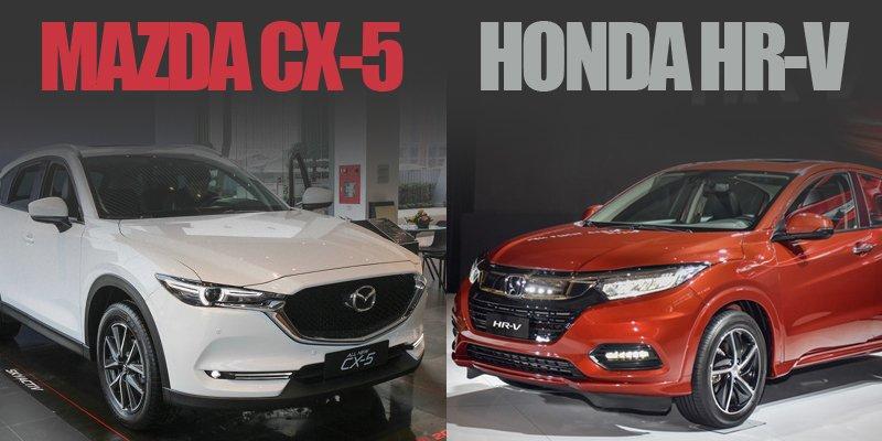 Với 900 triệu đồng, nên mua Mazda CX-5 2019 hay Honda HR-V L 2019?.