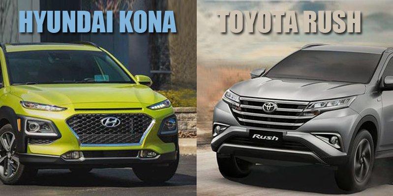 Mua xe gia đình 650 triệu, chọn Hyundai Kona 2019 hay Toyota Rush 2019 tốt hơn?.