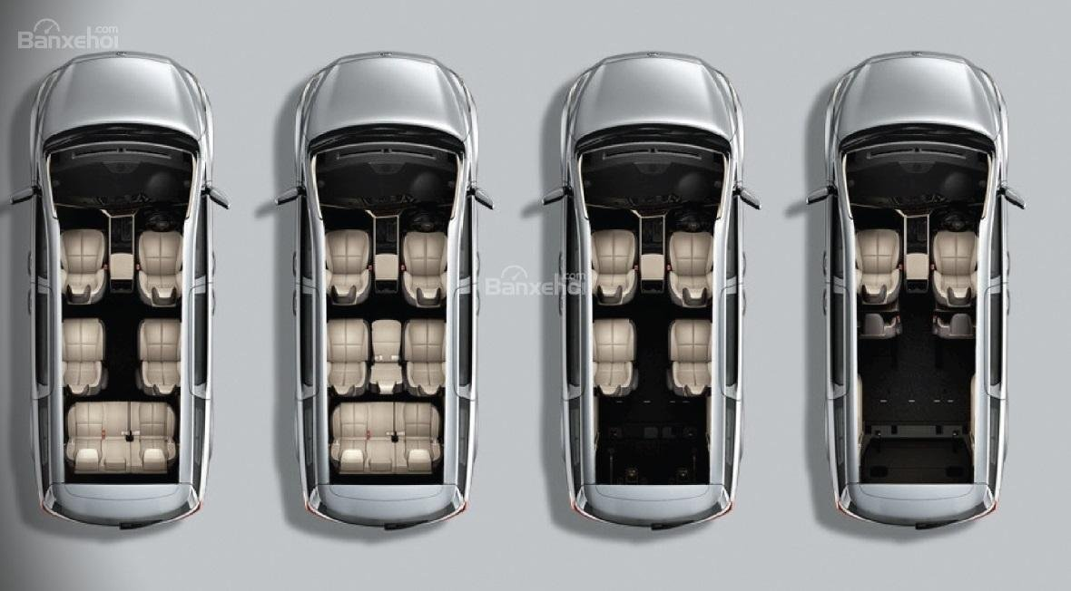 Đánh giá xe Kia Sedona bản Platinum G về không gian chứa đồ 3