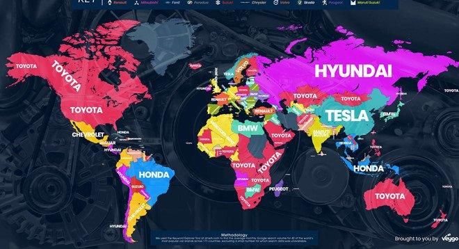 Toyota là thương hiệu được tìm kiếm nhiều nhất thế giới A1