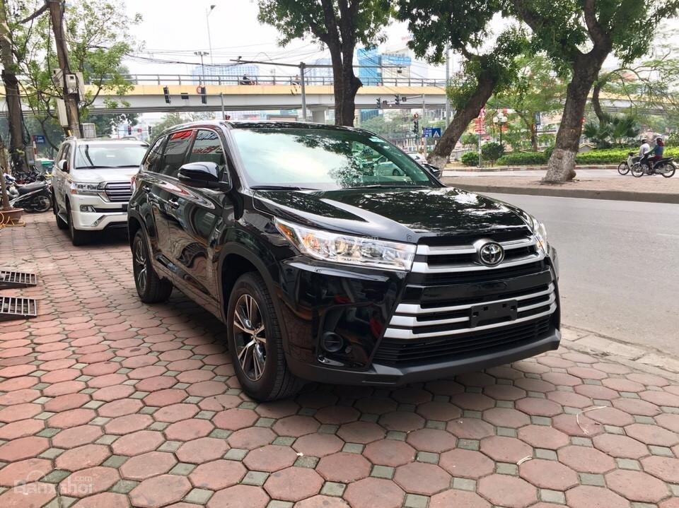 Bán xe Toyota Highlander LE năm 2018, màu đen, màu đỏ nhập khẩu Mỹ, LH em Hương: 0945392468 (3)